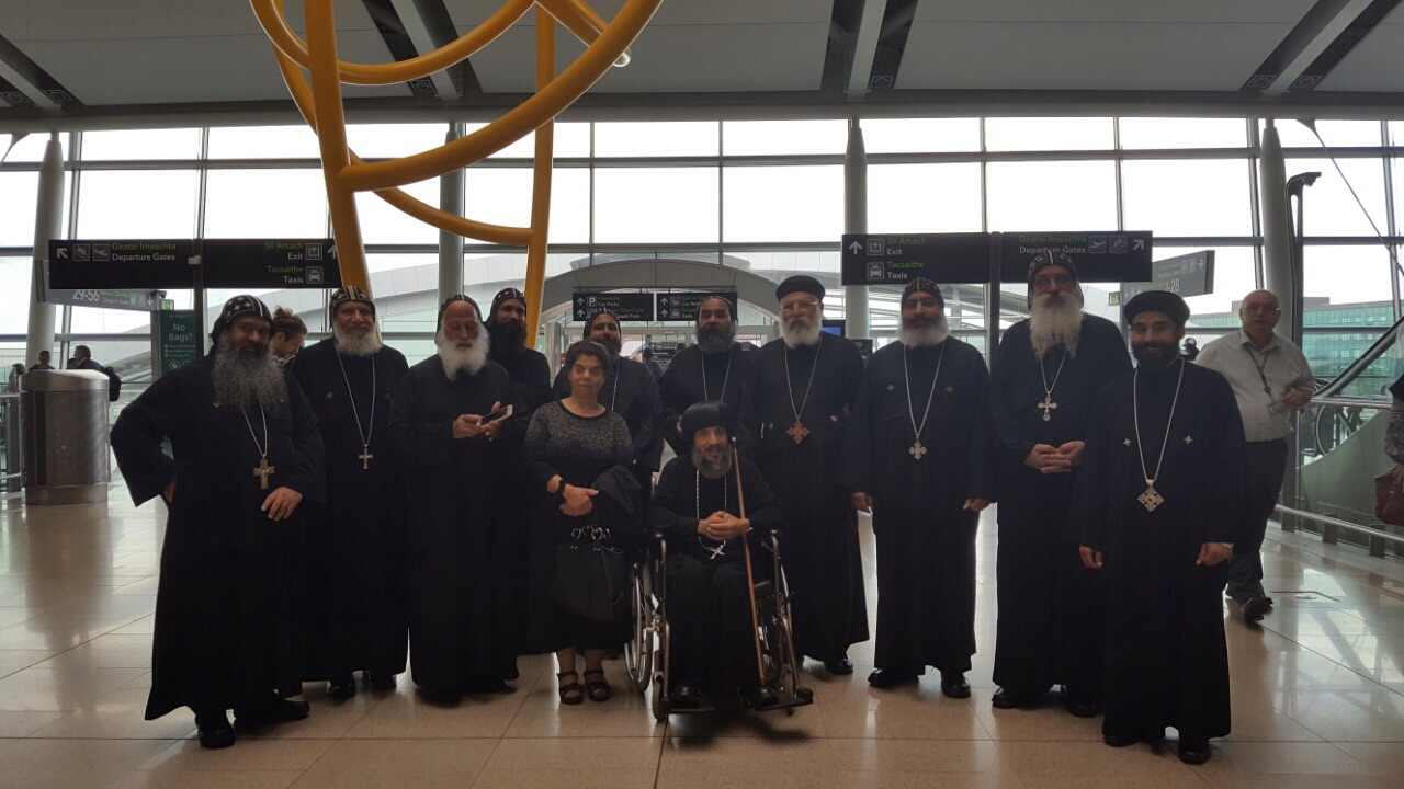 HG Bishop Antony with the Priests HE Kyrillos Dublinl 2016